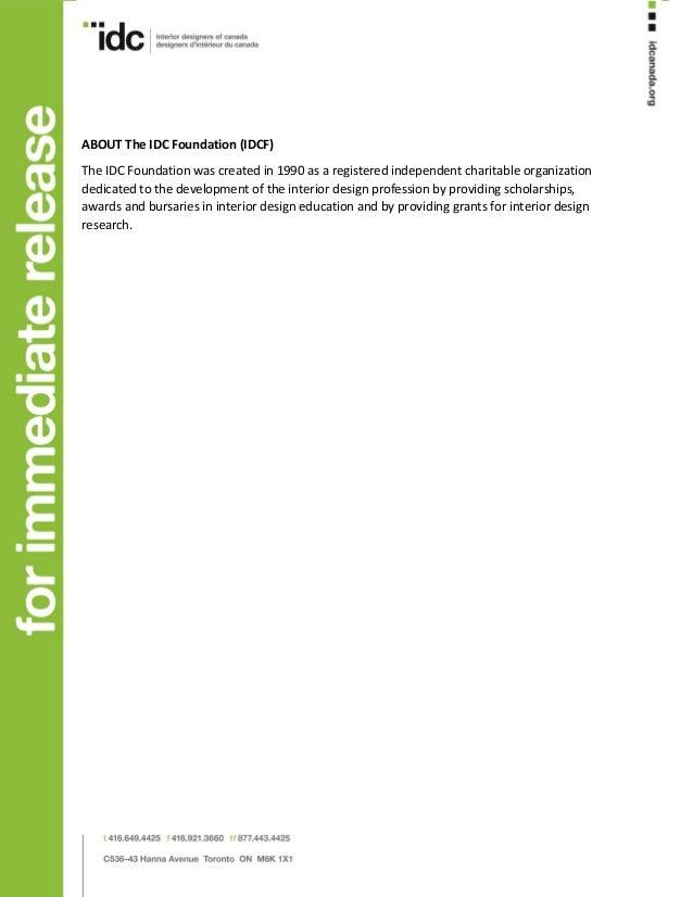 Robert Ledingham Scholarship Winner Announcement Press Release EN