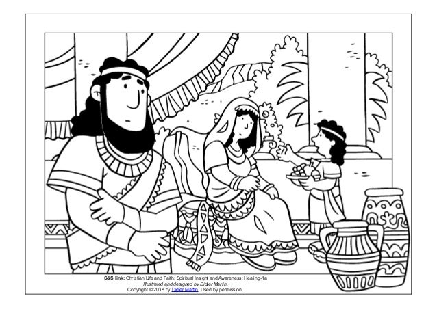 Coloring Page Young People In The Bible The Slave Girl And