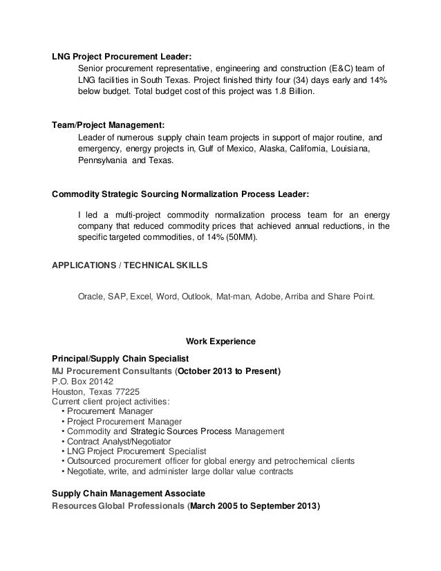 Beautiful Energy Procurement Resume Pictures - Administrative ...