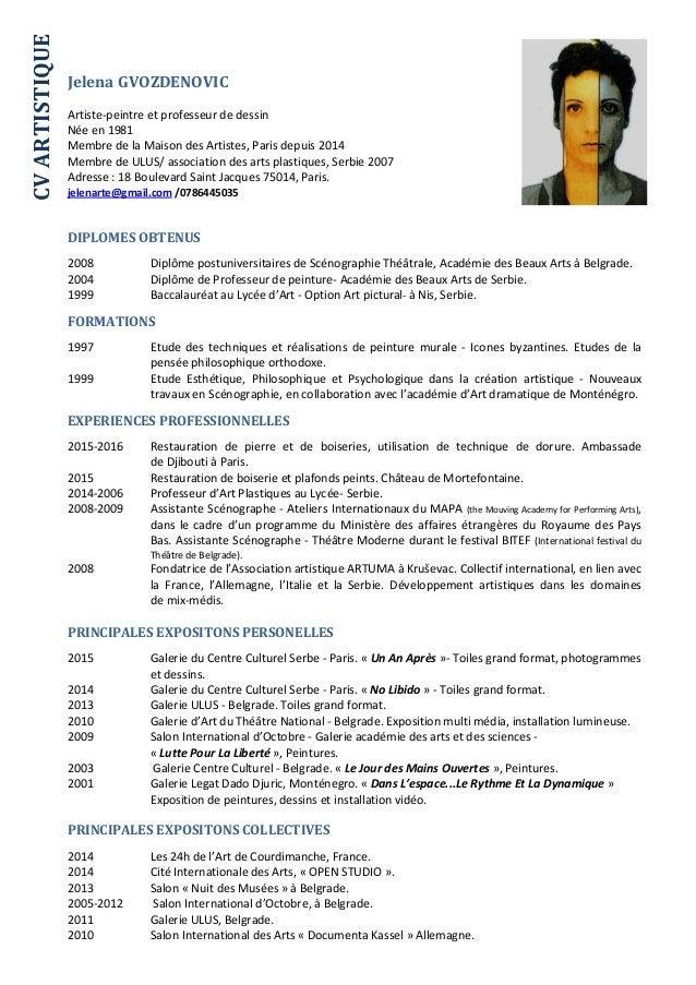 cv artistique 09 09 16  1