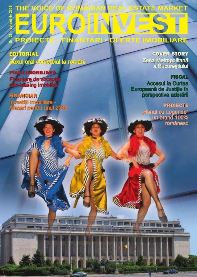 Nr.21–octombrie2005 COVER STORY ZZoonnaa MMeettrrooppoolliittaann`` aa BBuuccuurree[[ttiiuulluuii FISCAL AAcccceessuull ll...