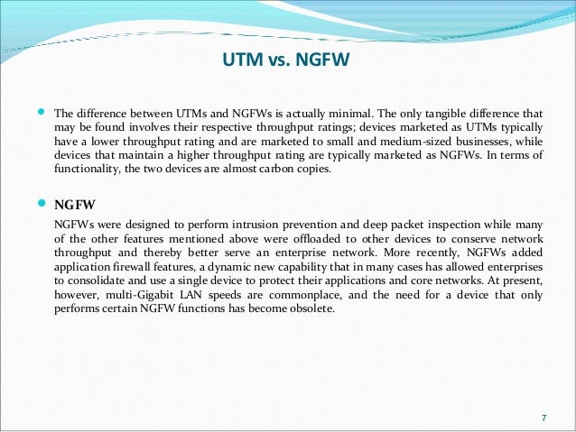 Utm Unified Threat Management
