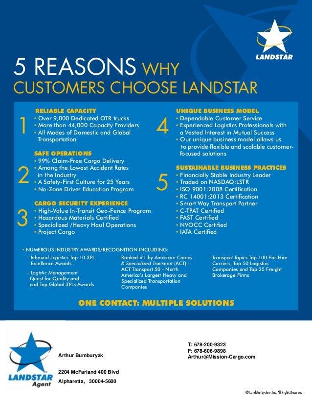 5 Reasons Shippers Choose Landstar