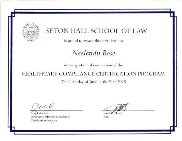 HEALTHCARE COMPLIANCE CERT PROGRAM NBOSE (1)