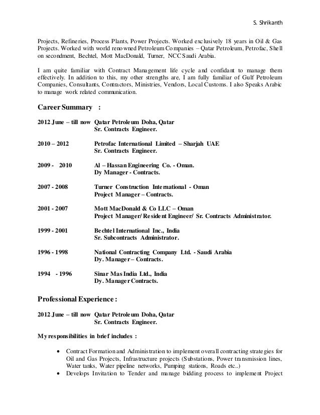 Amazing Bechtel Engineering Resume Images - Best Resume Examples by ...
