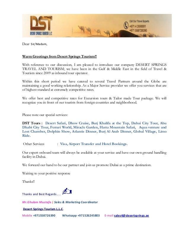 Business letter desert springs gm 1 dear sirmadam warm greetings from desert springs tourism m4hsunfo