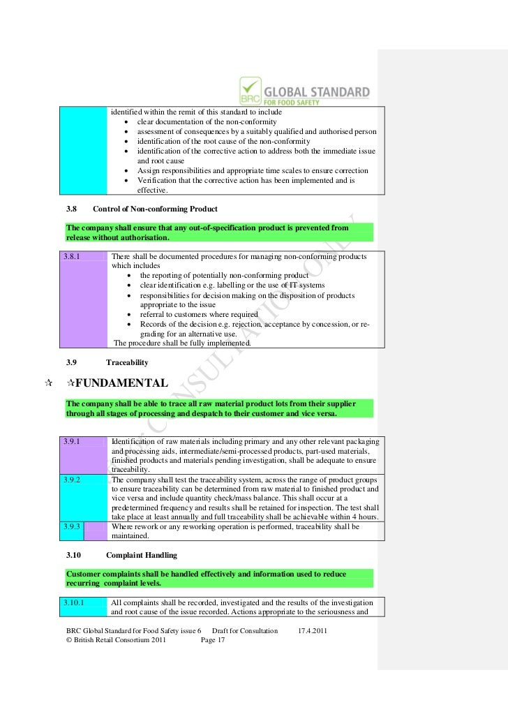 brc global standard for food safety issue 7 pdf