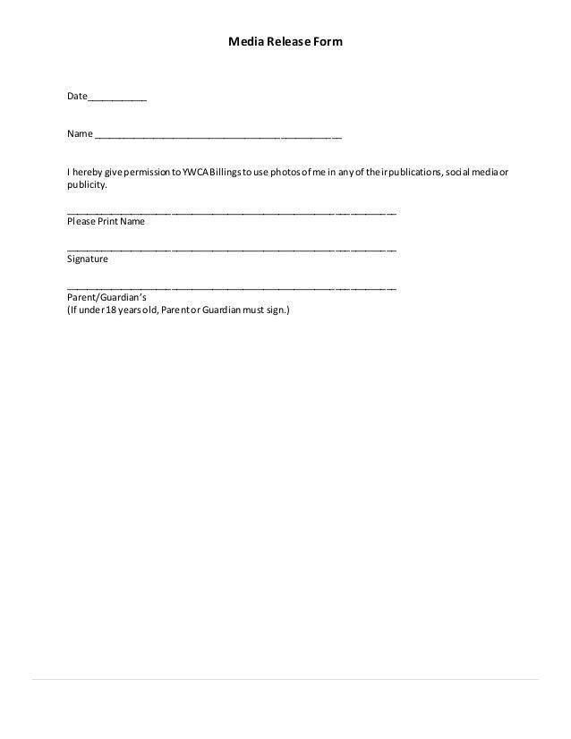 Parent Release Form Medical Release