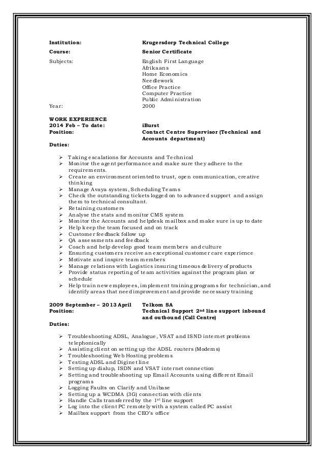 Tendani CV