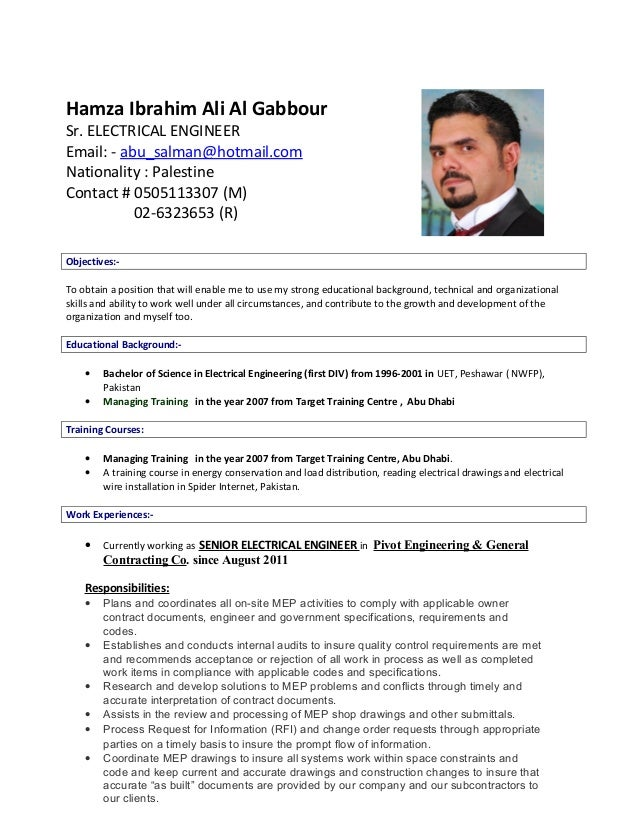 Hamza El Gabour Cv Mep Cordinator