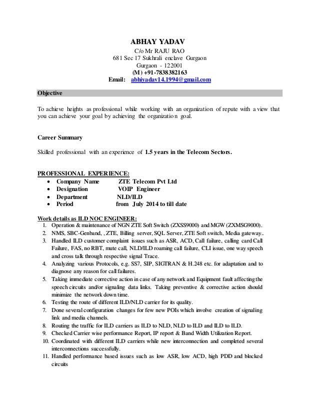 abhay yadav resume