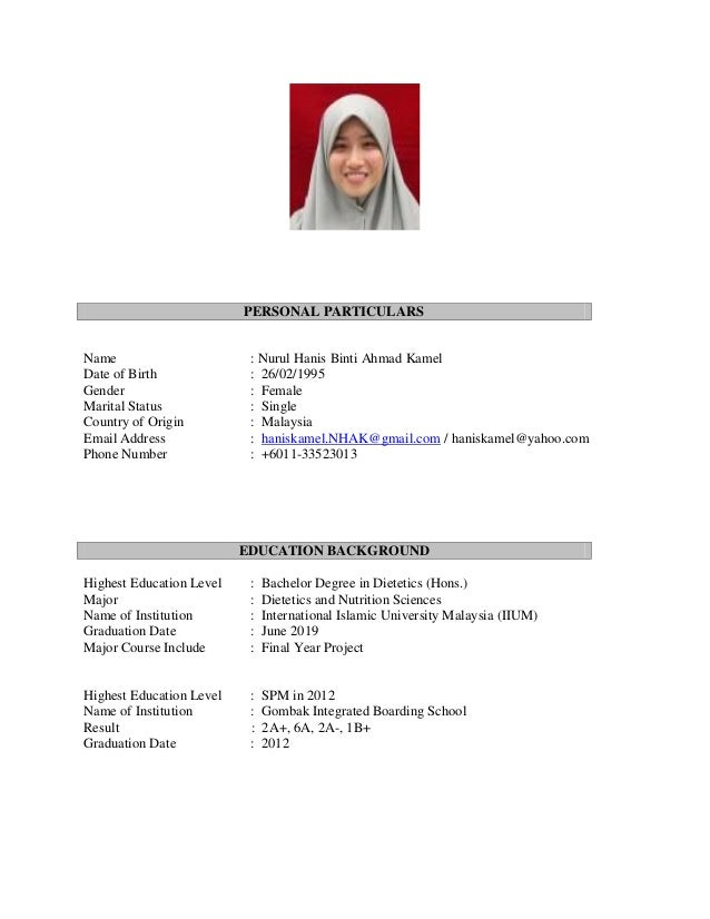 Hanis S Resume For Public