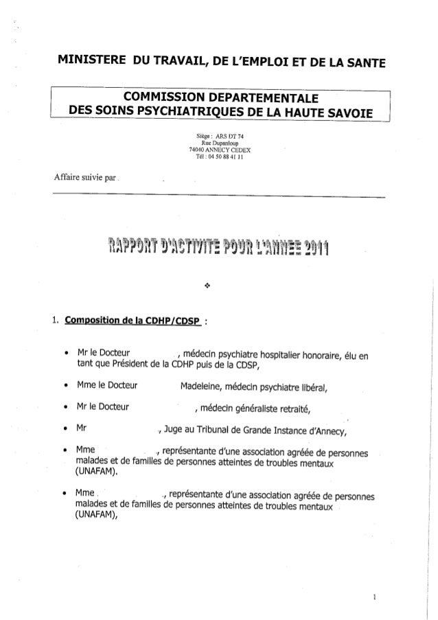 74 rapport activité cdsp 2011