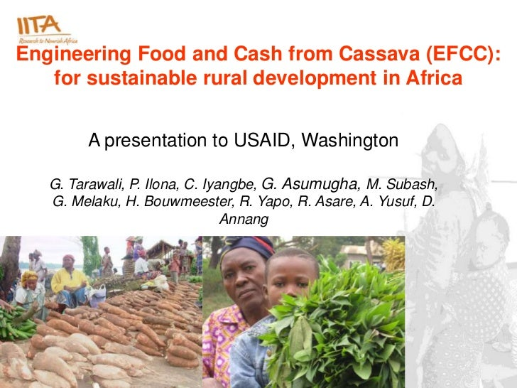 Engineering Food and Cash from Cassava (EFCC):   for sustainable rural development in Africa        A presentation to USAI...