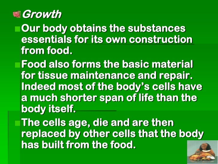 Foods consist of different components of  variable nutritional value called nutrients:These are:  Carbohydrates - e.g. Yam...