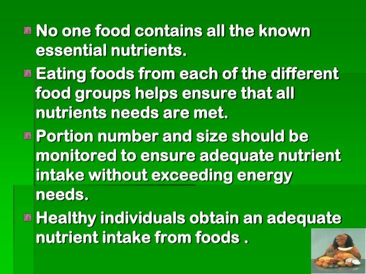 Consume a variety of grain products,including whole grains.Grain products provide complexcarbohydrates, vitamins, minerals...
