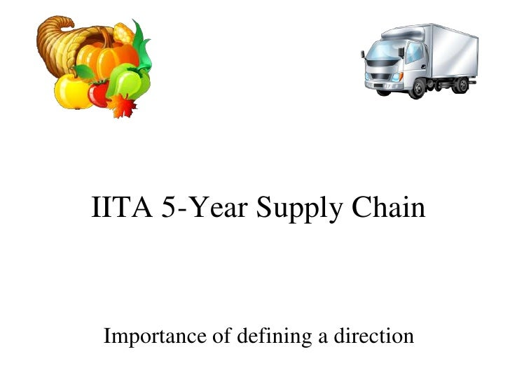 IITA 5-Year Supply ChainImportance of defining a direction