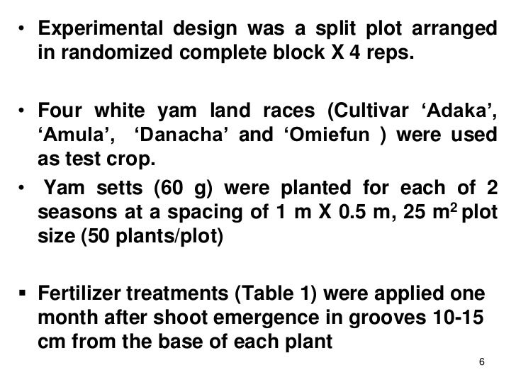 Response of white yam (Dioscorea rotundata Poir ) to different levels…
