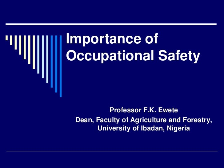 why is occupational health and safety Why are occupational health and safety training approaches not effective understanding young worker learning processes using an ergonomic lens.