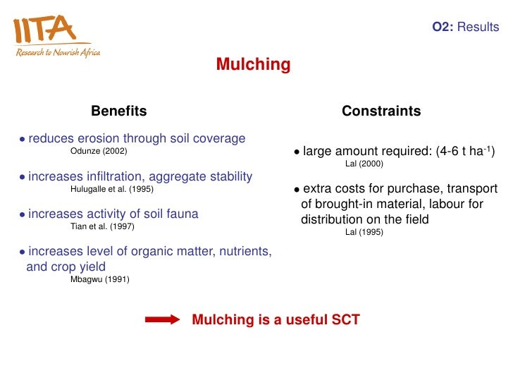 O2: Results                                     Mulching             Benefits                                   Constraint...