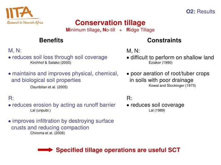O2: Results                                     Conservation tillage                                 Minimum tillage, No-t...