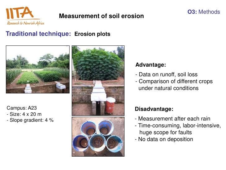 O3: Methods                        Measurement of soil erosionTraditional technique: Erosion plots                        ...