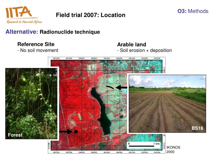 O3: Methods                     Field trial 2007: LocationAlternative: Radionuclide technique    Reference Site           ...