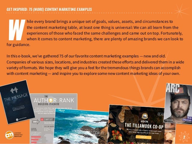 75 [More] Content Marketing Examples Slide 2