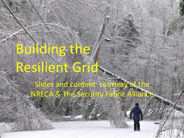 Building the Resilient Grid Slides and content courtesy of the NRECA & The Security Fabric Alliance