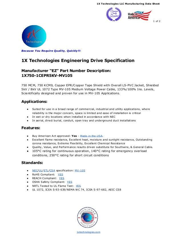 750 kcmil 5kv 5000 volts epr mv 90 mv 105 tape shield data sheet pdf 1x technologies llc manufacturing data sheet 1 of 2 because you require quality keyboard keysfo Image collections