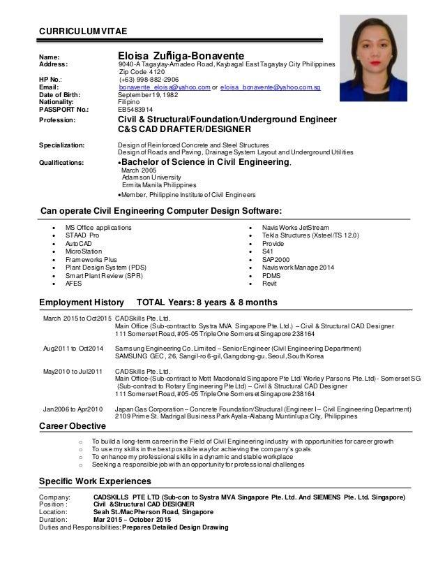 Resume Structural Engineer Kubreforic