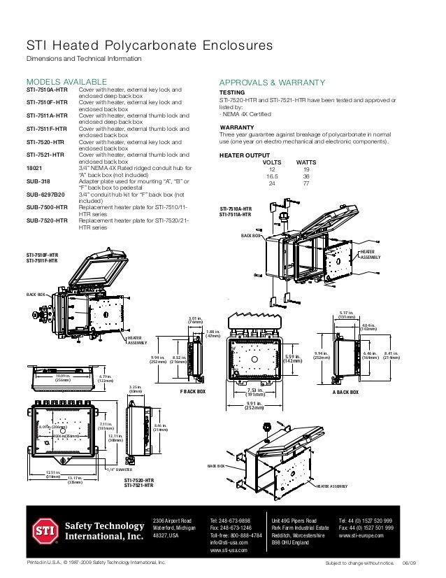 STI 7511F-HTR Data Sheet
