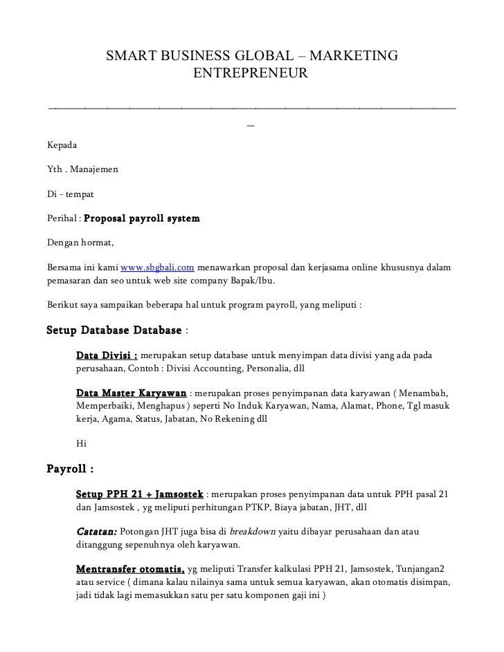 payroll system proposal
