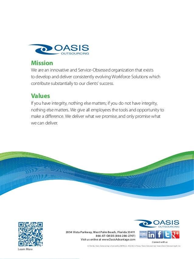 Oasis Outsourcing Advantage West Palm Beach