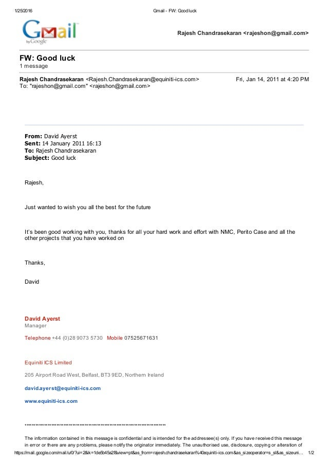appreciation email