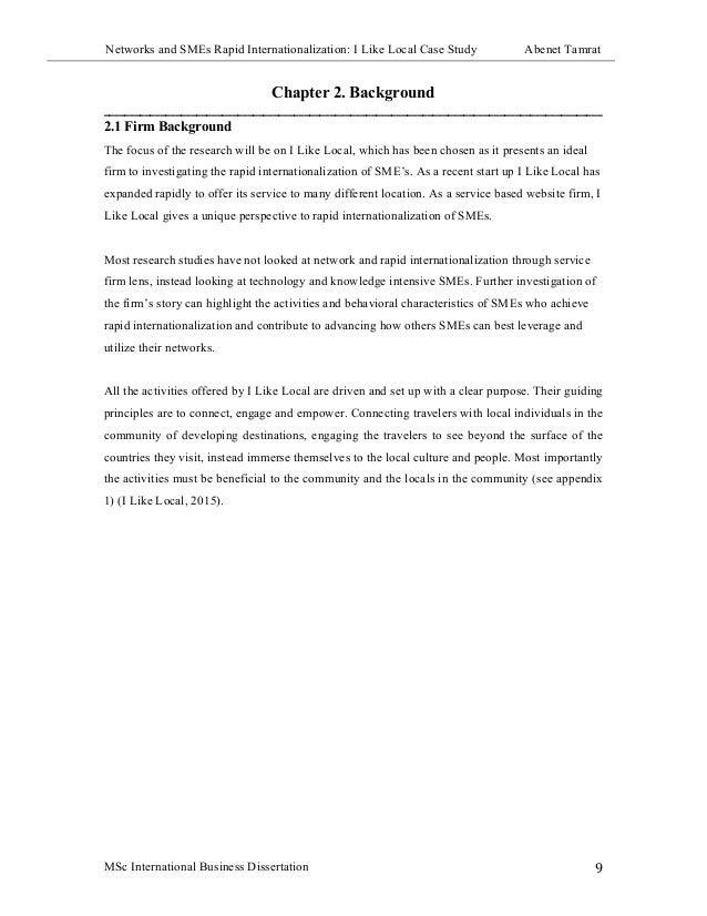 Dissertations international business