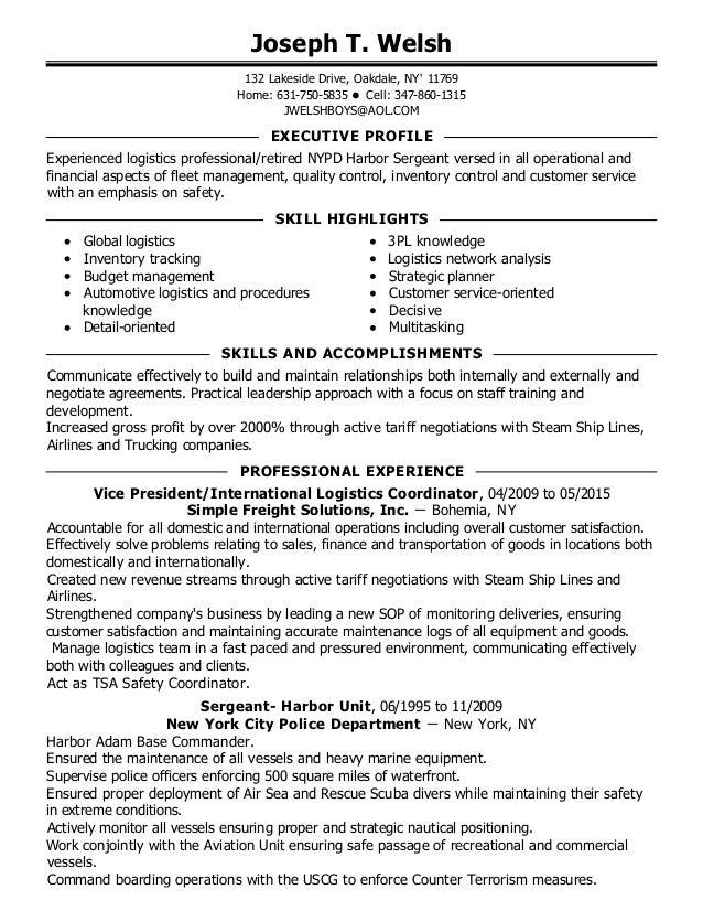 joseph welsh resume 1 3 - Nypd Resume