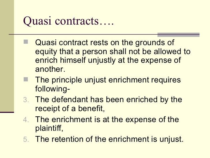 quasi contractual relationship agreement
