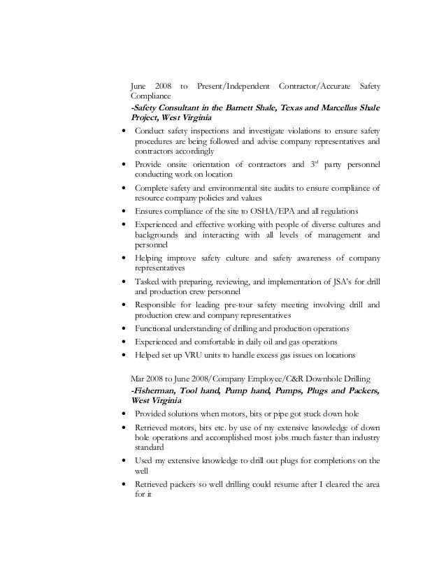 resume independent consultant