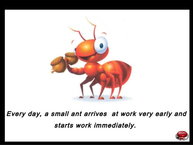 7533 funny powerpoint presentation the ant story working life