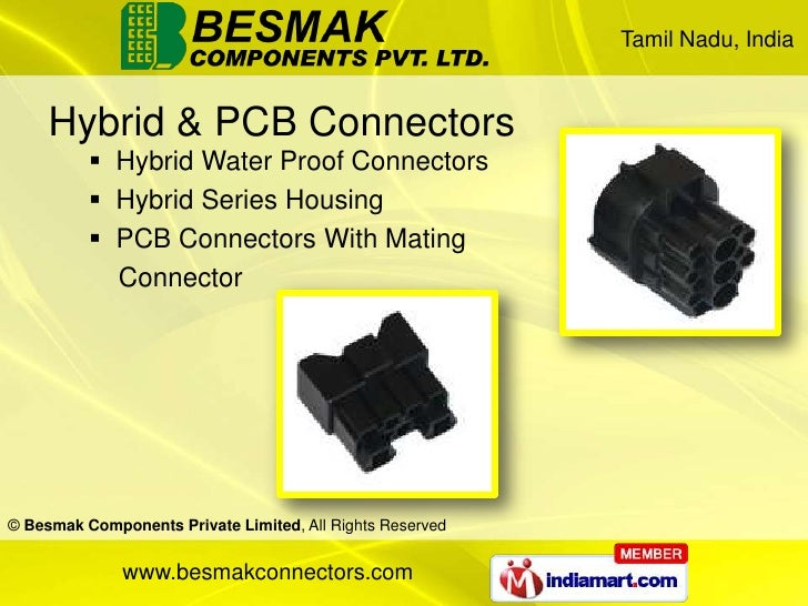 Secondary Lock Connectors By Besmak Components Private