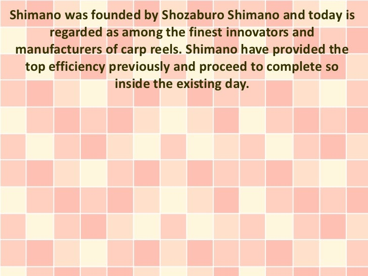 Shimano was founded by Shozaburo Shimano and today is      regarded as among the finest innovators and manufacturers of ca...