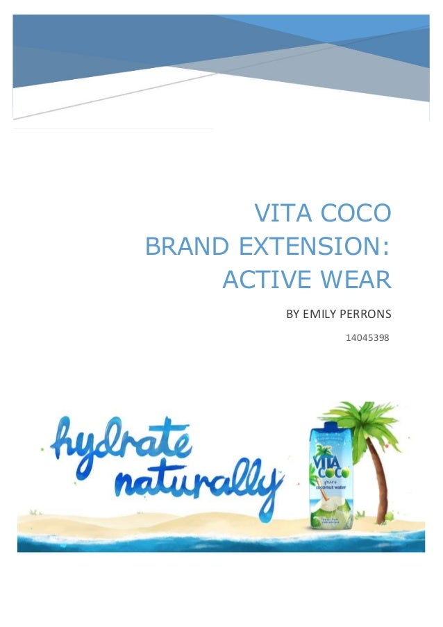 VITA COCO BRAND EXTENSION: ACTIVE WEAR BY EMILY PERRONS 14045398