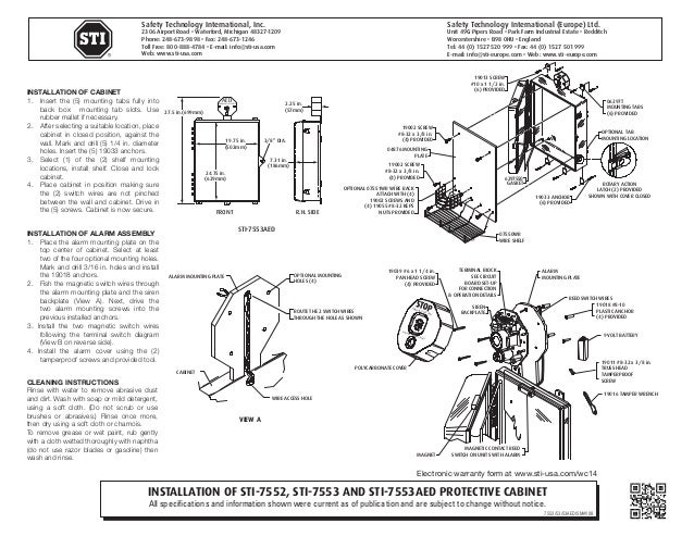 STI 7552 Instruction Manual