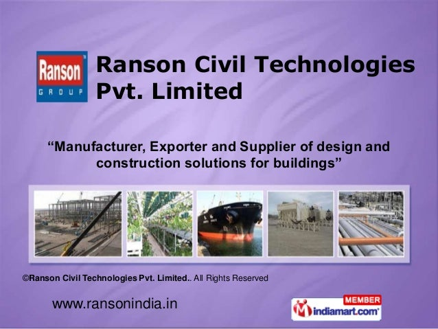 "www.ransonindia.in ©Ranson Civil Technologies Pvt. Limited.. All Rights Reserved ""Manufacturer, Exporter and Supplier of d..."
