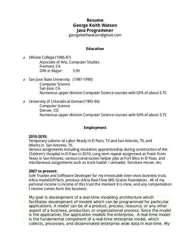 sample resume for a furniture mover