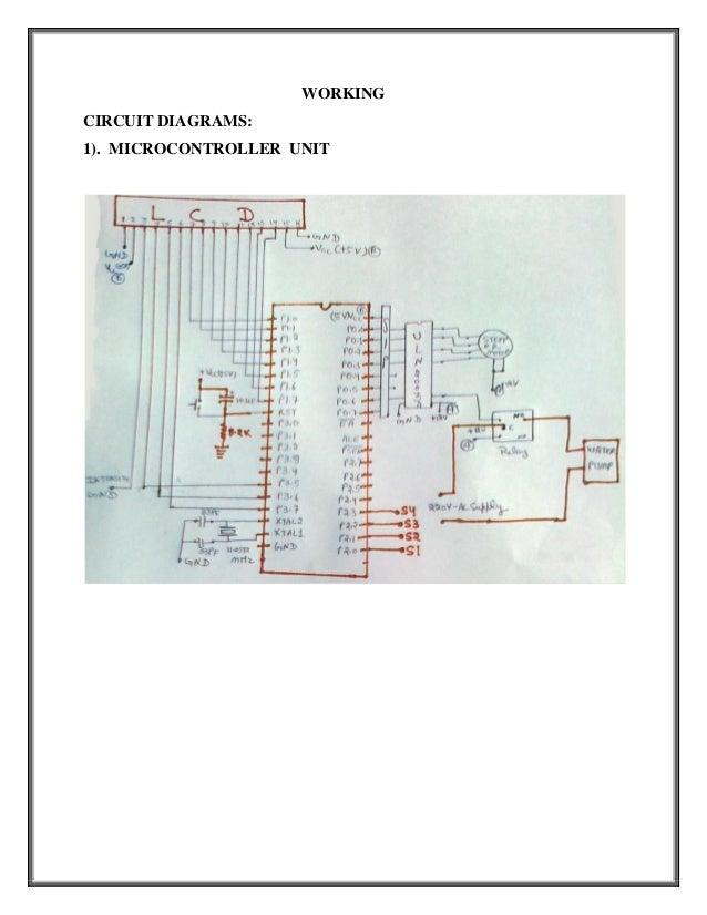WORKINGCIRCUIT DIAGRAMS:1). MICROCONTROLLER UNIT