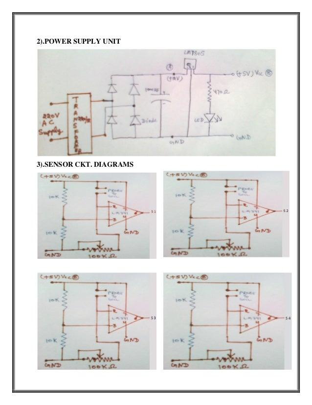 2).POWER SUPPLY UNIT3).SENSOR CKT. DIAGRAMS