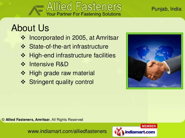 Industrial Fittings by Allied Fasteners  Amritsar Amritsar Slide 2