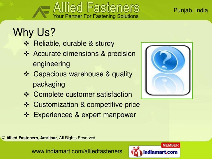 Industrial Fittings by Allied Fasteners  Amritsar Amritsar Slide 3